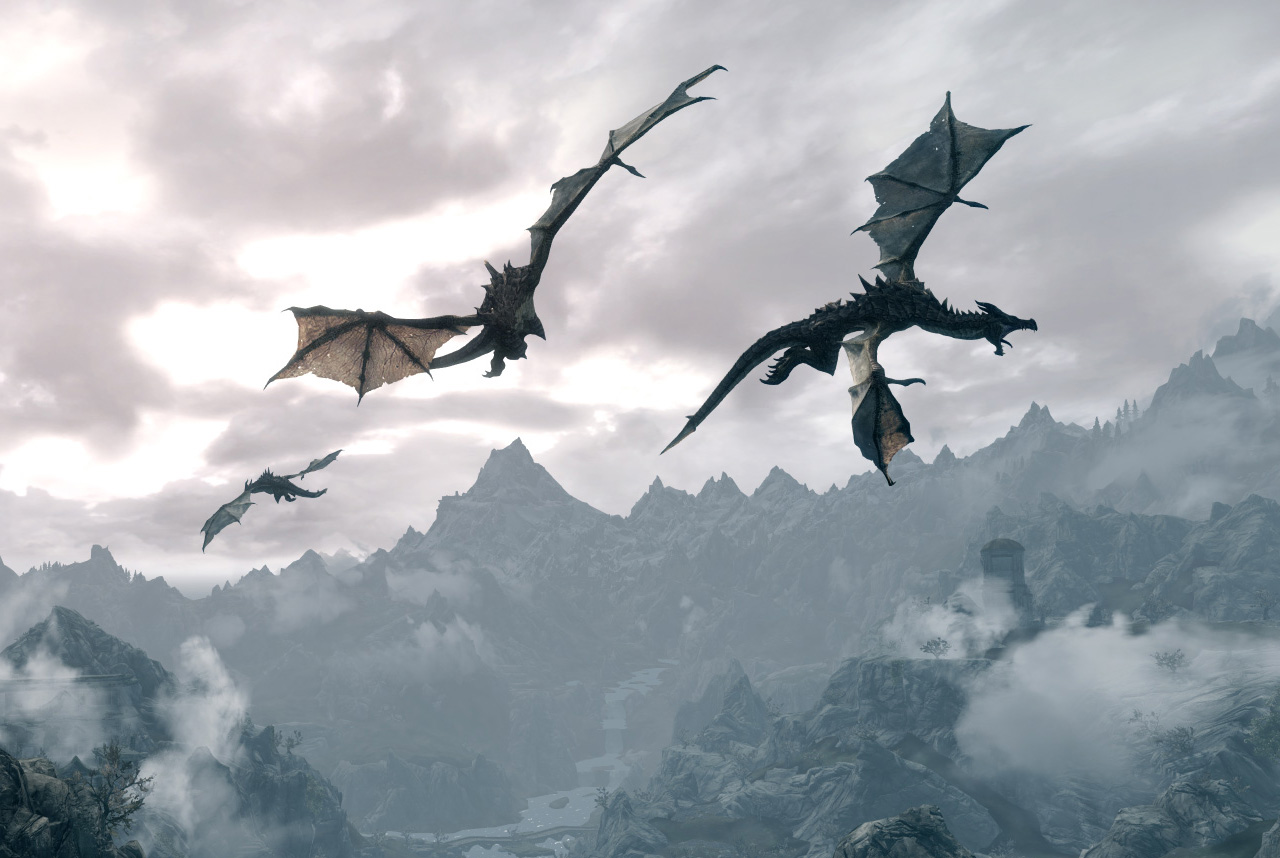 skyrim_dragons
